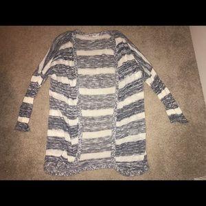 striped lightweight cardigan!